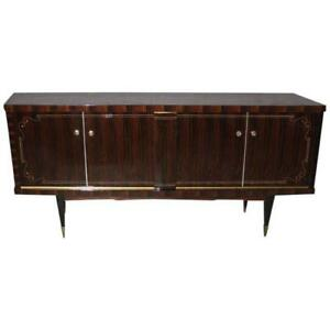 French Art Deco Macassar Exotic Sideboard Credenza Buffet Circa 1940s