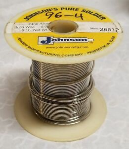 Johnson 460 062 Dia Silver Solder Sn 3 5ag Partial Spool 1 78 Lbs