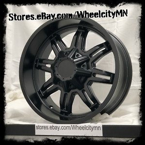 20 Inch Matte Black Tuscany Titan 800 Wheels Rims Fits Lifted Ford F150 6x135 0