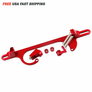 Red Aluminum Throttle Cable Carb Bracket For Holley 4150 4160 Carburetor 350 Sbc