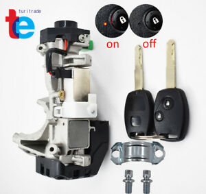 Ignition Keys Switch Lock Cylinder Steering Fit For Honda Civic Auto Trans 06 11
