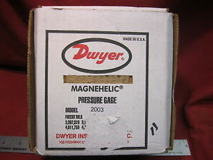 Dwyer Magnehelic Pressure Gauge 2003c 0 To 3 Inches Of Water
