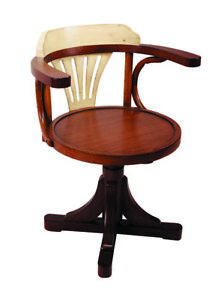 Purser s Office Desk Chair Ivory Honey Wooden Furniture Authentic Models New