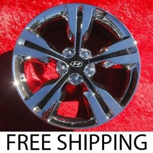 Set Of 4 Chrome 18 Hyundai Veloster Oem Factory Wheels Rims 70813