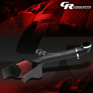 Black Wrinkle Finish Cold Air Intake heat Shield For 2009 2010 5 4l Ford F150 V8