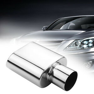 Car Exhaust Tip Stainless Steel 2 5 Inlet 3 X 5 5 Outlet 9 Long Rolled Edge