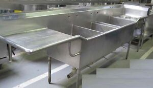 135 Sink 4 Compartment Trash Garbage Chute Hole