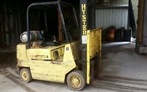 Hyster C50 Forklift 5000 Lb Lift Truck Motor Lp Tires Non Maring Smooth