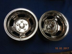 Vintage Polished American Racing Spirit 14x8 Slot Mag Wheels Camaro Ss Mags Gto