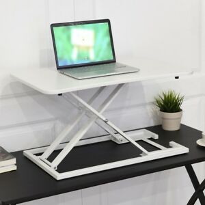 Home Office Adjustable Height Lap Book Desk Work Study Best Workstation White Us