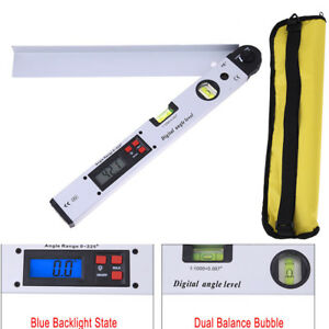 1pc 400mm Digital Protractor 0 225 Degree Electronic Angle Dual Spirit Level Mea