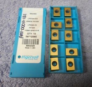 Ingersoll Carbide Inserts Lpe324 003 Grade In1530 Pack Of 10