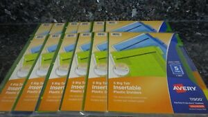 60 Avery Big Tab Insertable Plastic Dividers Binder Inserts Color 12 Packs Of 5