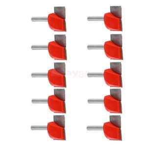 10pcs 1 4 Router Cnc V Groove Bottom Cleaning Bit Mill Cutter Woodworking