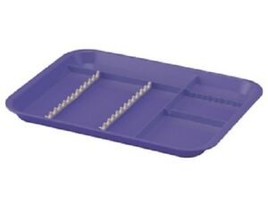 Plasdent Dental Instrument Divided Setup Trays Size B Neon Purple 5 pack Fda