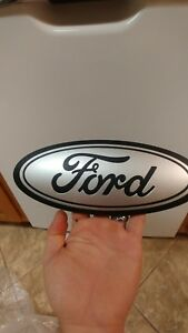2015 20 Ford F150 Tailgate Emblem Custom Matte Black And Ingot Silver 9 5