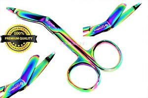 German 1 Lister Bandage Nurse Scissors 3 5 Multi Titanium Color Rainbow Nurse