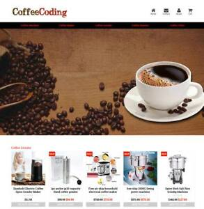 Established Profitable Coffee Store Turnkey Dropship Website Business For Sale