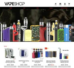 Established Profitable Vape Store Turnkey Dropship Website Business For Sale