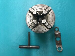 Power Companion Tools Metal Lathe 3 Independent 4 Jaw Chuck With Key 1111703