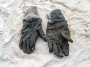 Firefighters Blue Leather Gloves Size Xl
