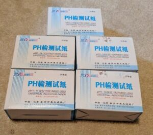100 Pack Lot Of 80 Ph Test Strips Litmus Test Paper Ph Acidic Alkaline Indicator