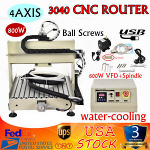 Usb 4axis 3040 Cnc Router Milling Drilling Engraving Machine Metal Cutter 800w