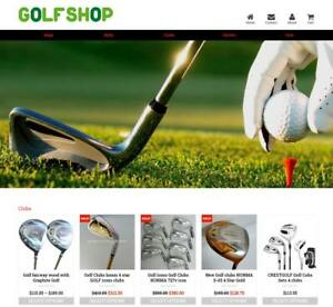 Established Profitable Golf Store Turnkey Dropship Website Business For Sale