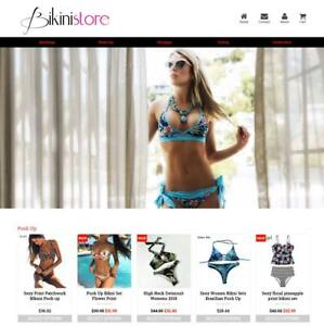 Established Profitable Bikini Store Turnkey Dropship Website Business For Sale