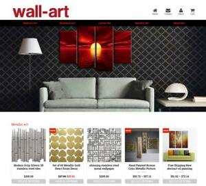 Established Profitable Wall Art Turnkey Dropship Website Business For Sale