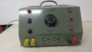 Vintage Lab volt 190 Variac Ac Dc Variable Output Bench Power Supply 4