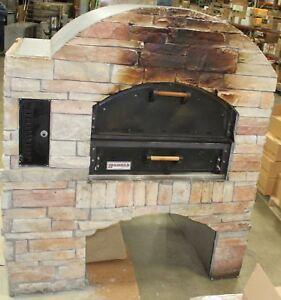 Natural Gas Stone Faced Pizza Shop Oven Stove Restaurant Outdoor Kitchen