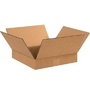 100 12x10x2 Cardboard Shipping Boxes Flat Corrugated Cartons
