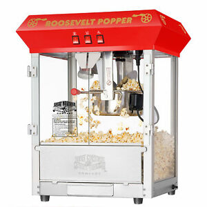 Great Northern Red 8oz Roosevelt Antique Countertop Style Popcorn Popper Machine