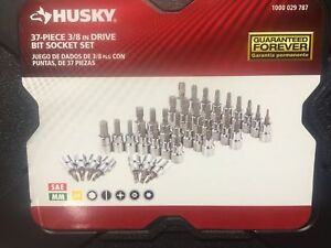37 piece 3 8 Drive Bit Socket Set