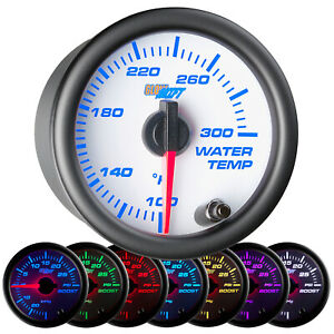 New 52mm Glowshift White 7 Color Electric Water Temp f Gauge Meter W Sensor