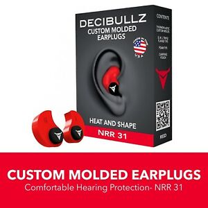 Custom Molded Earplugs 31db Highest Nrr Comfortable Hearing Protection For Shoot
