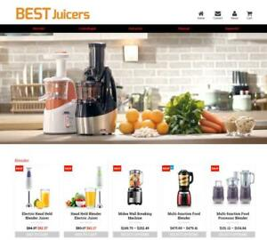 Established Profitable Juicer Machine Turnkey Dropship Website Business For Sale