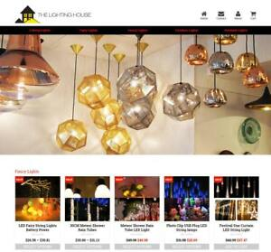 Established Profitable Lighting Store Turnkey Dropship Website Business For Sale