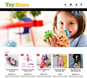 Established Profitable Toy Store Turnkey Dropship Website Business For Sale