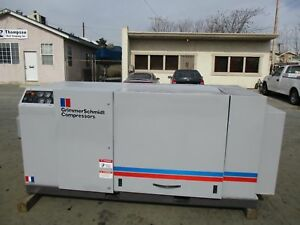 60 H p Grimmer Schmidt Screw Air Compressor 230 Cfm 125 Psi Only 25k Hours