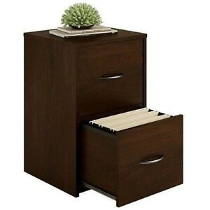 2 Drawer Ameriwood Modern Cabinet File Office Storage Home Furniture Cherry Wood