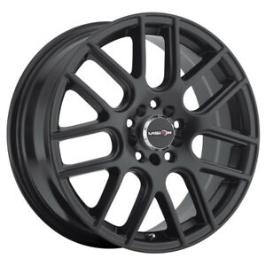 4 14 Inch Vision 426 Cross 14x5 5 5x100 5x114 3 38mm Matte Black Wheels Rims