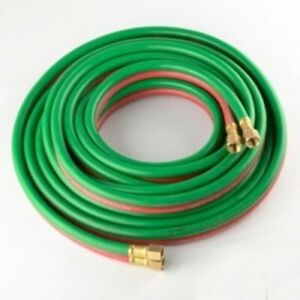 25 Foot Twin Line Gas Oxy Weld Oxygen Acetylene Welding Hose For Welders