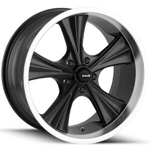 4 new 20 Inch Ridler 651 20x8 5 5x4 75 0mm Matte Black Wheels Rims