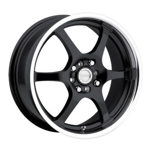 4 New 14 Inch Raceline 126 14x5 5 4x100 4x114 3 35mm Black Wheels Rims