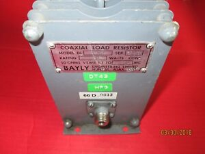 Bayly Model Dl 1 101 Coaxial Load Resistor Used Dummy Load 100 Watt 1 1 To 1000
