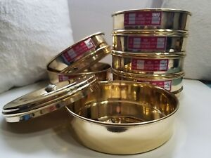 Heavy Brass Gauge Standard Testing 6 Set Sieve W Lid Catch Pan Usa Shipping