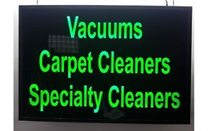 Vacuums Carpet Cleaners Specialty Cleaners Sign Light Box Signs 24 x36