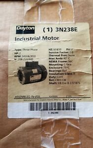 Dayton 3 Phase A c Motor 3n238e 2 Hp 3450 2850 Rpm New Other